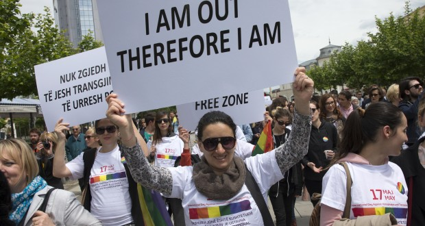 LGBT activists rally against Homophobia and Transphobia